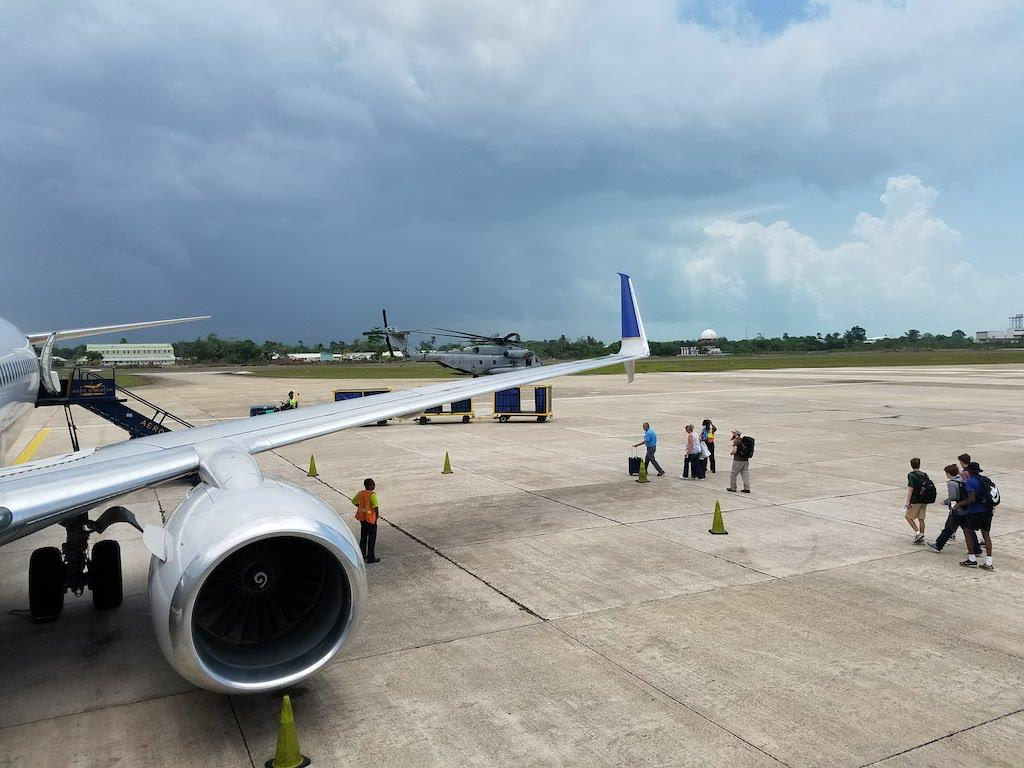 Belize Airport Deplaning