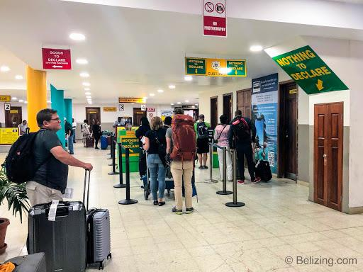 Belize Airport Customs Inspection
